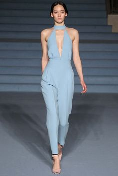 Prettiest pastel jumpsuit - Emilia Wickstead - Fall 2015 Ready-to-Wear - Look 17 of 30