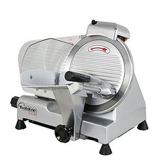 F2C Professional Stainless Steel Semi-Auto Meat Slicer Electric Food Slicer, Deli/Veggies, 240W 530 RPM (Model 01) ** This is an Amazon Affiliate link. Check this awesome product by going to the link at the image.