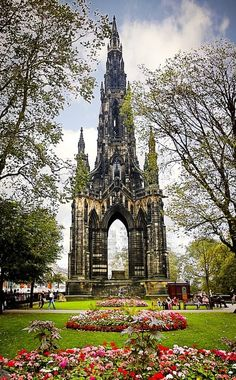 Sir Walter Scott Monument, Edinburgh, Scotland by Jeremy Cupp. The Sir Walter Scott statue designed by John Steell is located inside the Scott Monument Beautiful Buildings, Beautiful Places, Amazing Places, Beautiful Park, Amazing Things, Simply Beautiful, Absolutely Stunning, Places To Travel, Places To See