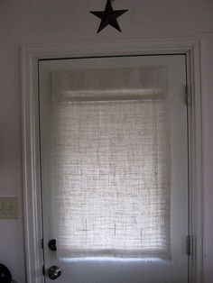DIY Burlap Curtains For The Sunroom