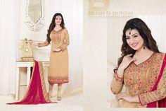 http://www.thatsend.com/shopping/lp/fvp/TESG212526/i/TE276268/iu/beige-georgette-designer-salwar-kameez  Beige Georgette Designer Salwar Kameez Apparel Pattern Embroidered. Stiching Type Semi Stitched. Work Embroidery, Border Lace. Bottom Color Beige.