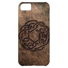 Celtic knot embossed on leather vibe iPhone 4 case - sold!