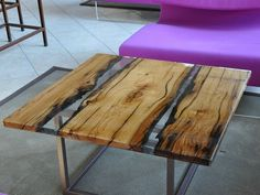 Mesita cuadrada de madera maciza para salón WOOD AND RESIN | Mesita cuadrada - ANTICO TRENTINO DI LUCIO SEPPI