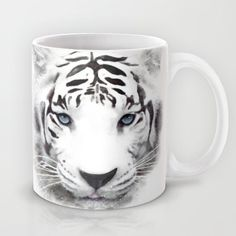 White Tiger Mug 11 or 15 oz  Wild Life Cute Animals by Narais