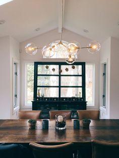 Handblown 3 Glass Globe Bubble Light, Sconce
