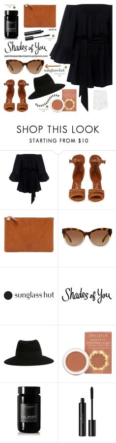 """Shades of You with Sunglass Hut / Contest Entry"" by palmtreesandpompoms ❤ liked on Polyvore featuring C/MEO COLLECTIVE, Sergio Rossi, Clare V., Michael Kors, Maison Michel, Pacifica, African Botanics, Vincent Longo and shadesofyou"