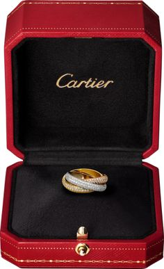 CRN4210700 - Trinity de Cartier ring, classic - White gold, yellow gold, pink gold, diamonds - Cartier
