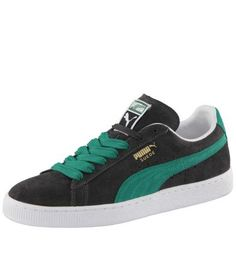 """Suede Classic Trainers: Suede Classic Trainers: A classic from the PUMA Archive. A trendsetting sneaker and the first shoe of """"B-boyism""""! 100 % suede upper for optimum comfort. Centrally-positioned lacing with broad laces for a perfect fit. Non-slip and abrasion-resistant outer sole made from 100 % rubber. PUMA formstrip, PUMA Suede archive logo and PUMA Cat logo."""