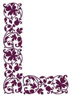 Damask Stencil, Stencil Diy, Stencil Designs, Paint Designs, Stencils, Pattern Art, Pattern Design, Apple Logo Design, Islamic Motifs