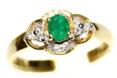 Emerald Solitaire Diamond Eternity 18K Yellow Gold Ring [... https://www.amazon.com/dp/B00CG6FMBI/ref=cm_sw_r_pi_dp_klGDxbW7ZEWPQ