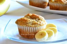 Muffin light alla banana da 82 kcal l'uno Light Dessert Recipes, Light Desserts, Banana Recipes, Sweet Cakes, Something Sweet, Sweet Recipes, Good Food, Food And Drink, Sweets