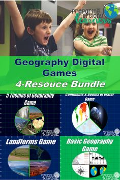 Your middle school social studies students can review, learn or practice basic geography skills like how to apply the 5 Themes of Geography, use latitude and longitude, identify types of landforms, bodies of water and continents with these digital games perfect for individual in class or distance learning! Basic Geography, Geography Games, Social Studies Games, Digital Review, Map Skills, Middle School Teachers, Review Games, Learning Games, Continents
