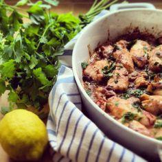 Calamari al forno con limone, erbe aromatiche e pane grattugiato - Baked squid with lemon, herbs and breadcrumbs