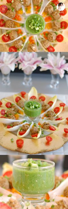 Rainbow Walnut Taco Bites in Belgian Endive Boats from @TheGlobalGirl Raw Recipe Series. Totally guilt-free, healthy & yummy! Get this delish raw vegan Mexican recipe: http://theglobalgirl.com/product/raw-vegan-mexican-recipes/