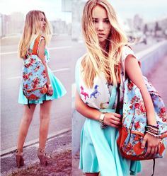 Banggood Backpack, Vateno Top, Banggood Skirt