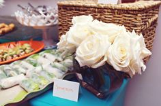 Roses and Appetizers.  Gourmet Club.  Photo Cred: E Moon