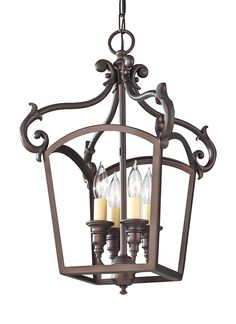 F2801/4ORB,4 - Light Hall Chandelier,Oil Rubbed Bronze