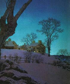 """Christmas Morning""  --  Maxfield Parrish"