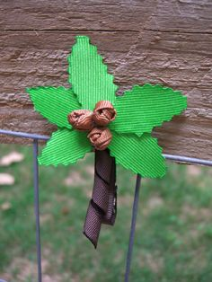 """This would also be cute with letters on it as a """"Chicka chicka boom boom tree clip"""