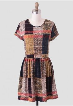 Autumnal Meadows Plaid Dress - this such a fun dress, I love the patch work and fun colors!