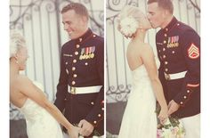 Gorgeous Military Weddings with Grooms in Uniform