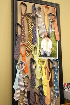 Don't look at the ties but maybe a cork board for odd shaped items?