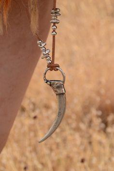 garra collar cuerno collar collar primitivo por dreamonhandmade