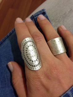 Boho Ring-Gypsy Ring-Bohemian Ring-Big Silver by GypsyandGypsy
