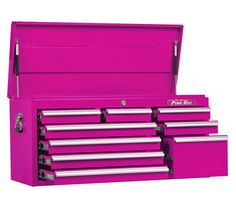 Pink TOOL BOX From The Pink Superstore - It's a tool box but also works great as a small dresser, organizer and much more! The Original Pink Box.
