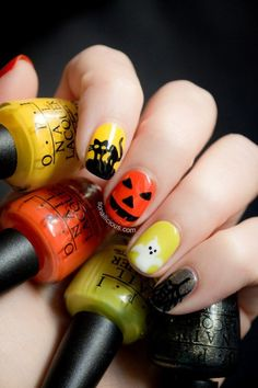 89+ Seriously Spooky Halloween Nail Art Ideas  - Halloween is celebrated in various ways. You can enjoy your time and celebrate this occasion through playing games, watching horror movies, telling sc... -   -  #gothicnails #Halloweennailartideas #Hallowee