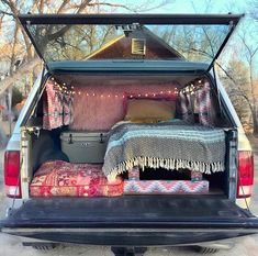 Truck camper shell bed & curtains - Car World Auto Camping, Truck Bed Camping, Minivan Camping, Camping Hammock, Kayak Camping, Kangoo Camper, Suv Camper, Camper Life, Camper Van