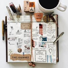Journaling and New Year's Resolutions...Image via @a3amylin on Instagram