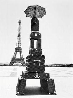 Eiffel Tower of luggage.