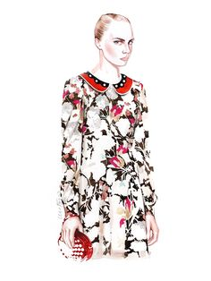 RED Valentino fashion illustration by António Soares