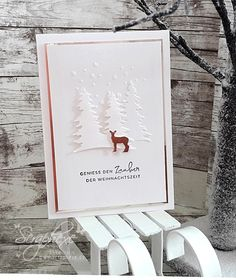 """Kartenset """"Winterweihnacht"""" Christmas Carol, Christmas Diy, Holiday, Stamped Christmas Cards, Simple Birthday Cards, Big Shot, Workshop, Party, Stampin Up"""