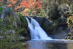 Abrams Falls in beautiful Cades Cove is only 20 feet high, but the large volume of water makes up for the lack of height. Us Travel Destinations, Mountain Vacations, Cades Cove, East Tennessee, Great Smoky Mountains, Beautiful Places, Amazing Places, The Good Place, National Parks