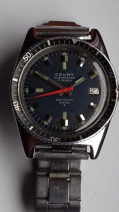 7c0ca4579cc Currently at the  Catawiki auctions  Cauny - Submarine - Men - 1960-1969 ·  LeilãoHomensRelógios AntigosRelógios ...