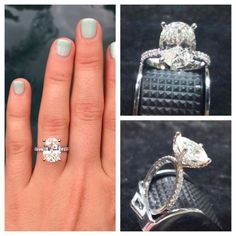 My Ring! Oval diamond in a pave basket setting