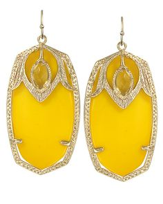 I'm now the proud owner :) Darby Earrings in Yellow - Kendra Scott Jewelry