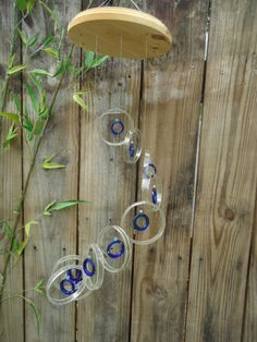 RECYCLING GLASS BOTTLES into windchimes by Liftingupspirits, $29.95