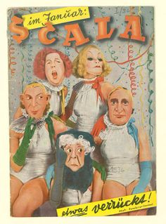 im Januar: Scala etwas verrückt!  Variete Zirkus Kabarett, Waldoff, Claire, Lingen, Theo, 1936