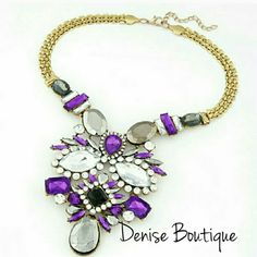 SALE  Statement Necklace Color: Purple Fashion Jewelry Jewelry Necklaces