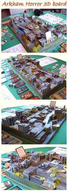 Arkham Horror, board, You want Geek Games, Diy Games, Games To Play, Tabletop Board Games, Board Game Table, Horror, Board Game Organization, Bored Games, Board Game Design