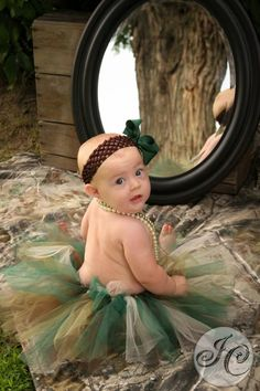 my camo baby I must make krystina this!!!! Throw some pink in it too(: