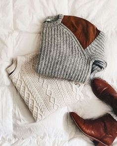 cableknit sweater for winter outfit inspiration