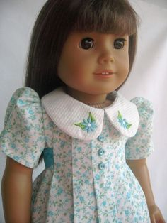American Girl Doll Clothes Pleated Dress with by MyAngieGirl
