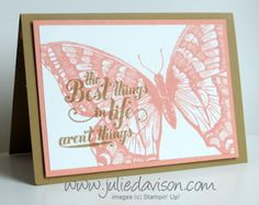 Julie's Stamping Spot -- Stampin' Up! Project Ideas Posted Daily: Papillion Potpourri Floating Pop-Up Card