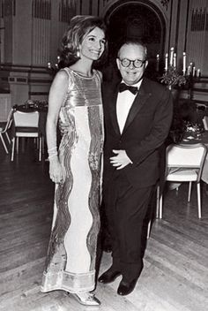 Lee Radziwill and Truman Capote at the Black and White Ball, 1966, via Hulton Archive/Getty Images - that dress!