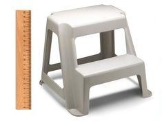 Kick Step Stool Swift Metal Heavy Duty Roll Around Non Slip Ladder GREY