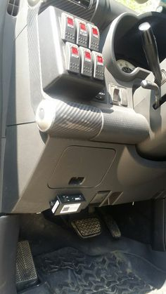 FJ Cruiser Dash Cam or it didn't happen. SPod switches mounted above.